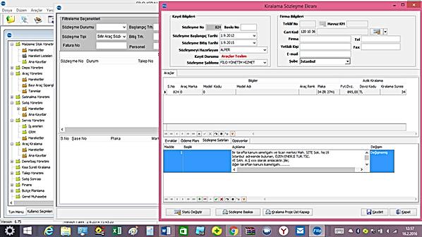 otosoft oto filo kiralama yazılım software