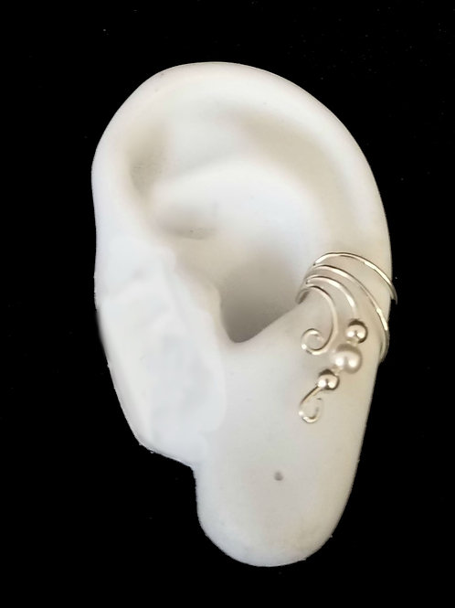 Sterling Silver Ear Cuff with Pearl