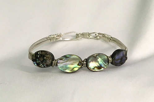Sterling Silver Bracelet with Abalone