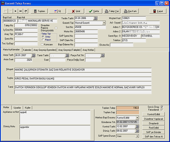 otosoft oto servi yedek parça dms yazılım software