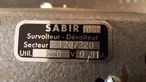 Original: Survolteur/dévolteur Sabir 062
