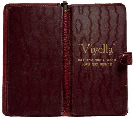 Inside cover of Gordon's1916 Diary