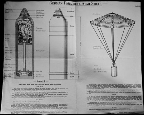German Parachute Star Shell