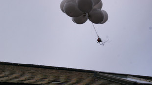 Balloons in air with Raspberry pi computer attached