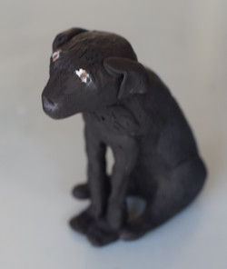 Polymer clay pet figurine