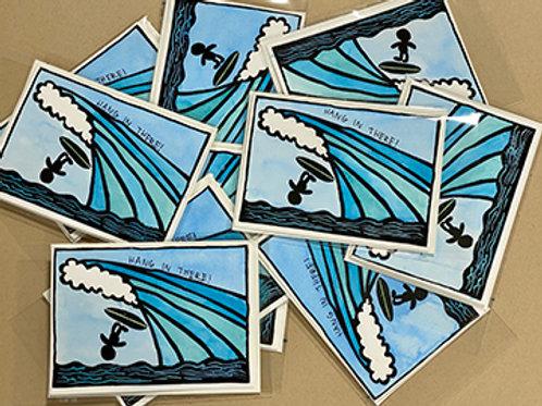 Hawaiian Greeting Cards - block printed and hand inked card
