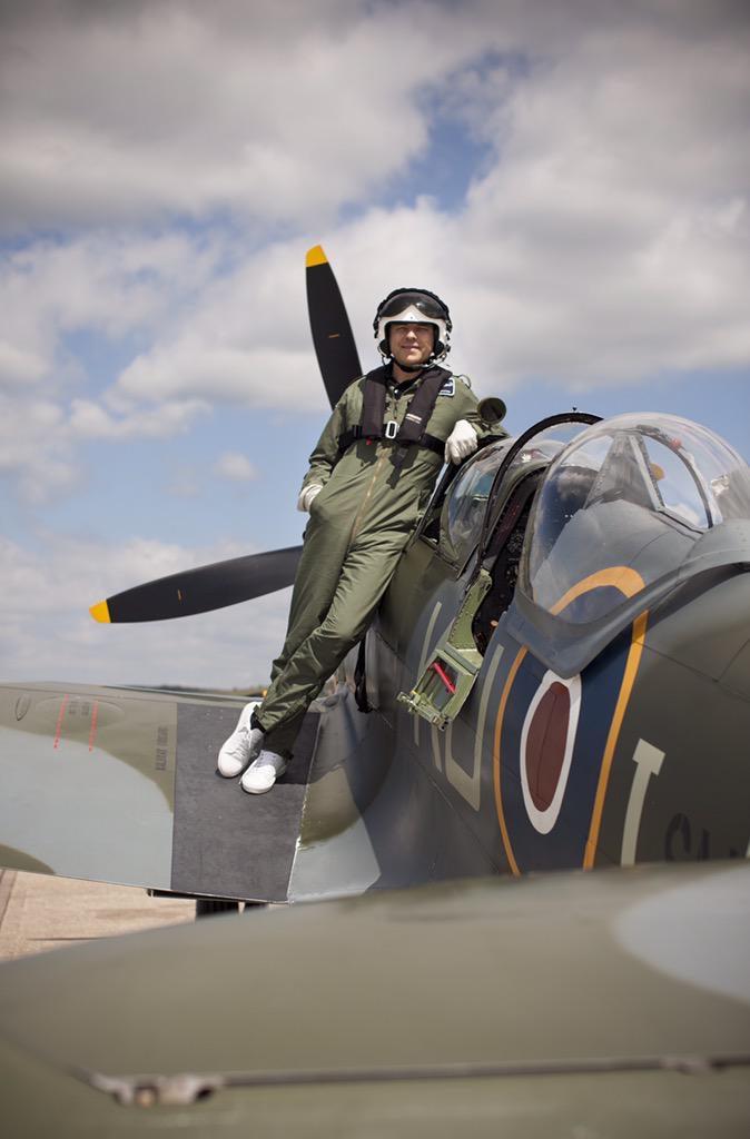 David William spitfire flight