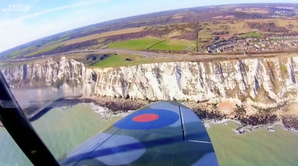 Spitfire over White Cliffs of Dover