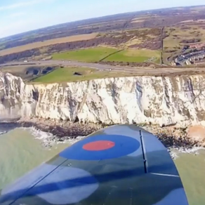 SPITFIRE OVER WHITE CLIFFS OF DOVER FOR VERA LYNN'S 100th BIRTHDAY