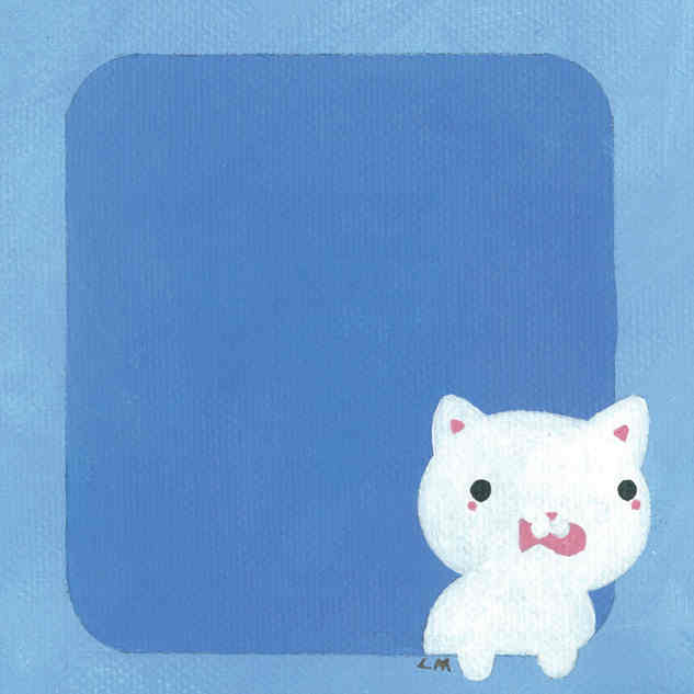 White Cat with Fish