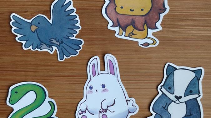 The Animals - Mini Sticker Set