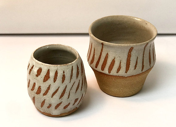 A pair of small pots