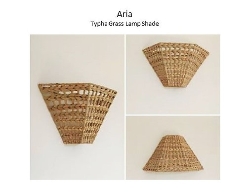 Aria - Typha Grass Lamp Shade - Sustainable and HandmadeAria – Typha Grass 100%