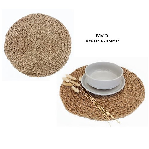 Myra - Jute Table Placemat (Set of 2)