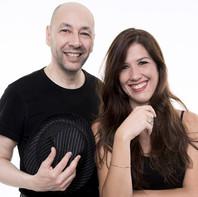 Mariel Martínez y Fabián Carbone