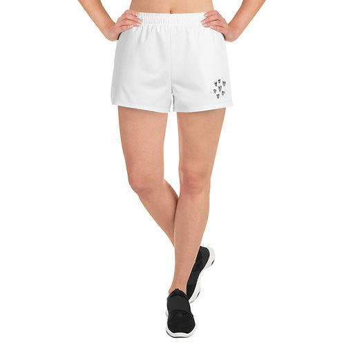 Women's Athletic Short Shorts hearts