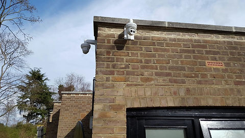IP HD CCTV Camera Concept Fire and Secur
