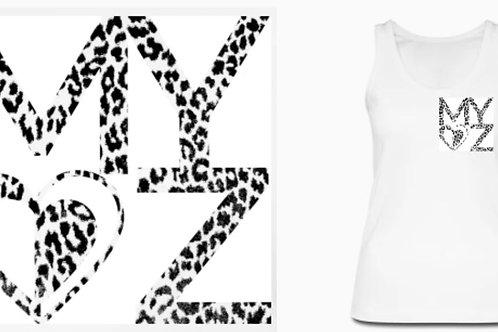 BIO Tanktop Frauen weiss Logo Cat