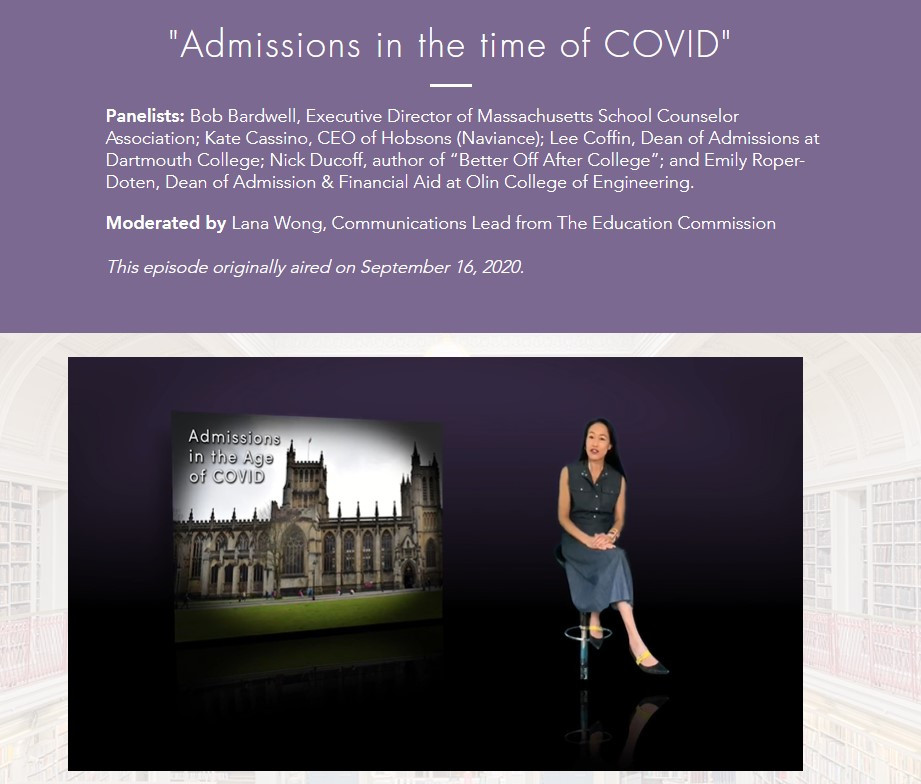 Admissions in the time of COVID