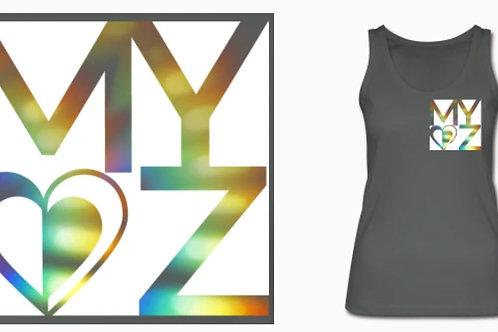BIO Tanktop Frauen dunkelgrau Rainbow