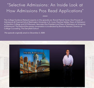 Selective Admissions - An Inside Look