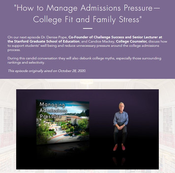 How to Manage Admissions Pressure