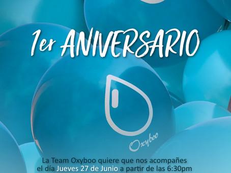 Primer aniversario Oxyboo - FB