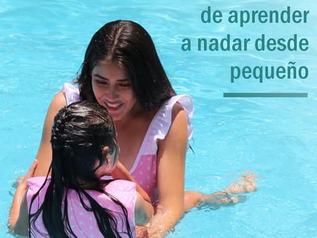 Los beneficios de aprender a nadar desde pequeño.