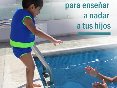 Consejos para enseñar a nadar a tus hijos