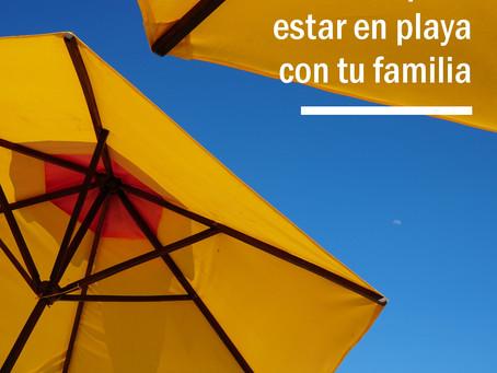 El día ideal para estar en playa con tu familia.
