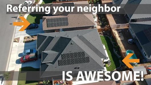Solar referrals promotion