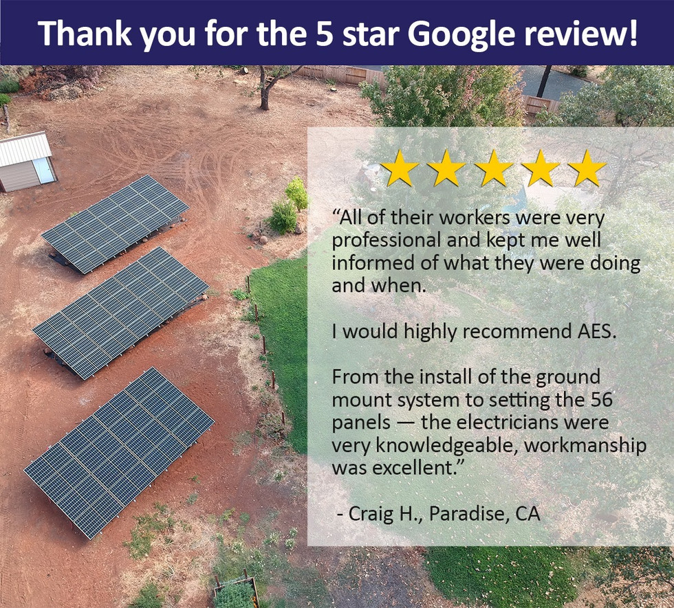 Customer's five star review