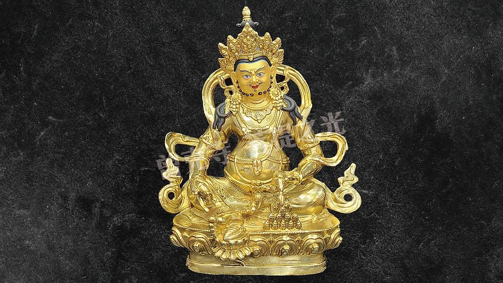 黃財神銅像已在寺院安藏加持