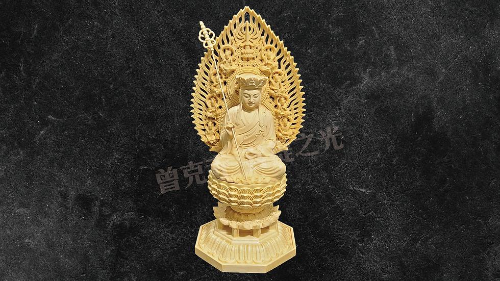 37 黃楊木雕之地藏王菩薩