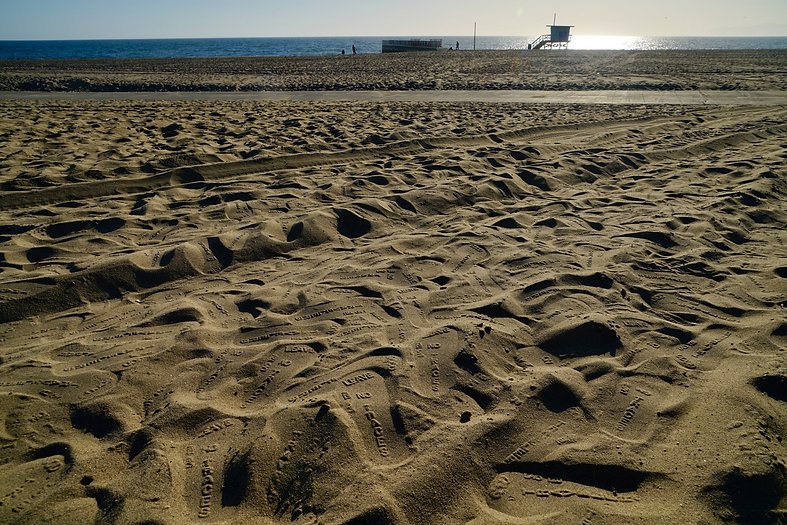 July 26 2021-Dấu dép của tác phẩm ECODI - Good Travellers Leave NO Traces -TẠI LOS ANGELES