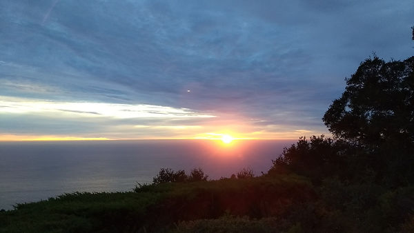 A photo of sunset at Big Sur