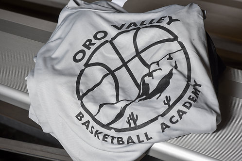 Grey sports material adult shirt (short sleeve)