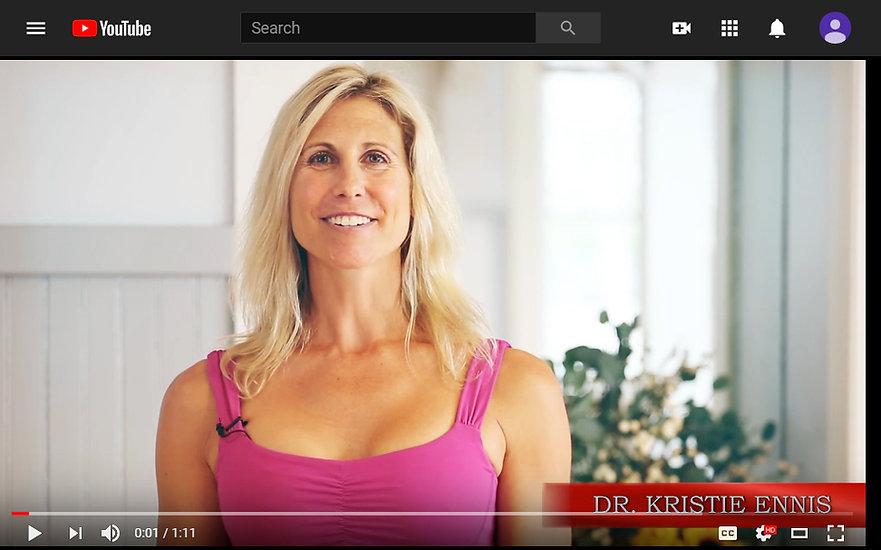 Dr. Kristie Ennis Body Vitality Video Series