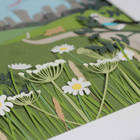Hampstead Heath Papercut Illustration