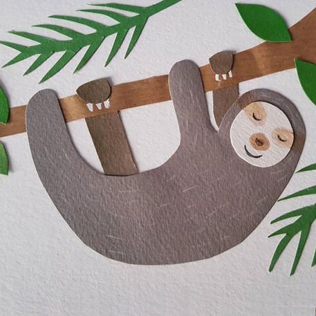 Handmade Sloth Card
