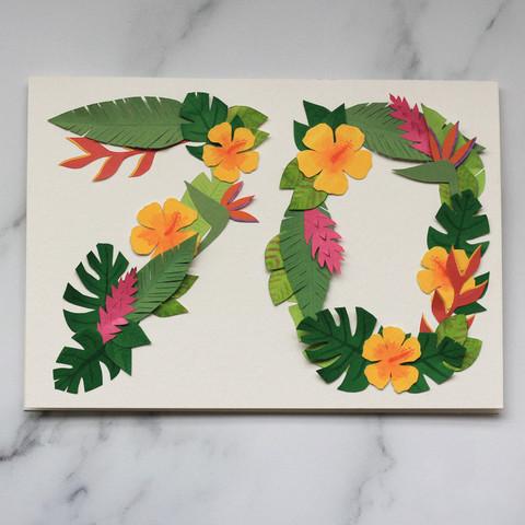 Tropical Number Papercut