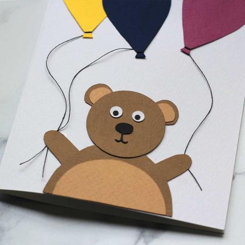Bear and Balloons Card