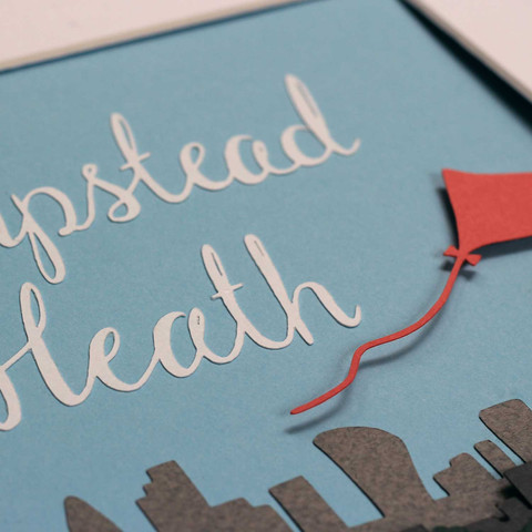 Hampstead Heath Papercut Illustration - detail