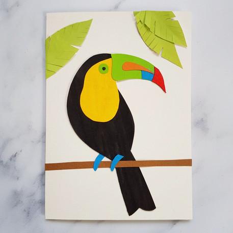 Toucan papercut card