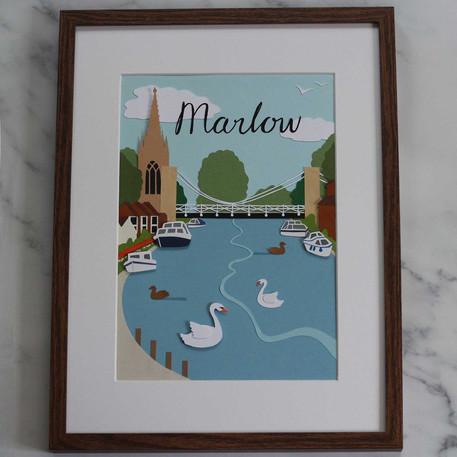 Marlow Papercut Illustrations