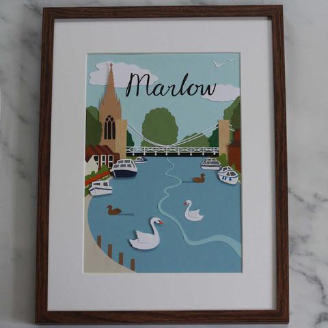 Marlow Papercut Illustration