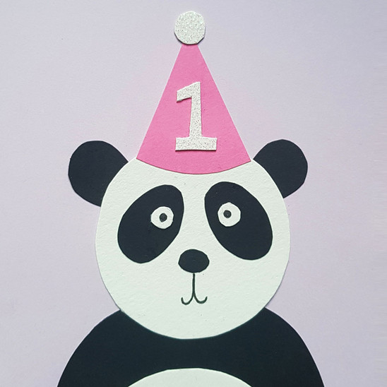 Panda in a Party Hat Card
