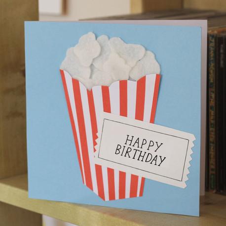 Handmade Popcorn Birthday Card