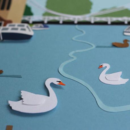 Marlow Papercut Illustrations - detail