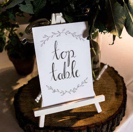 Hand Lettered Wedding Table Numbers